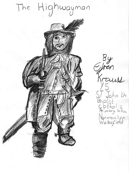 Highwayman Pencil Portrait